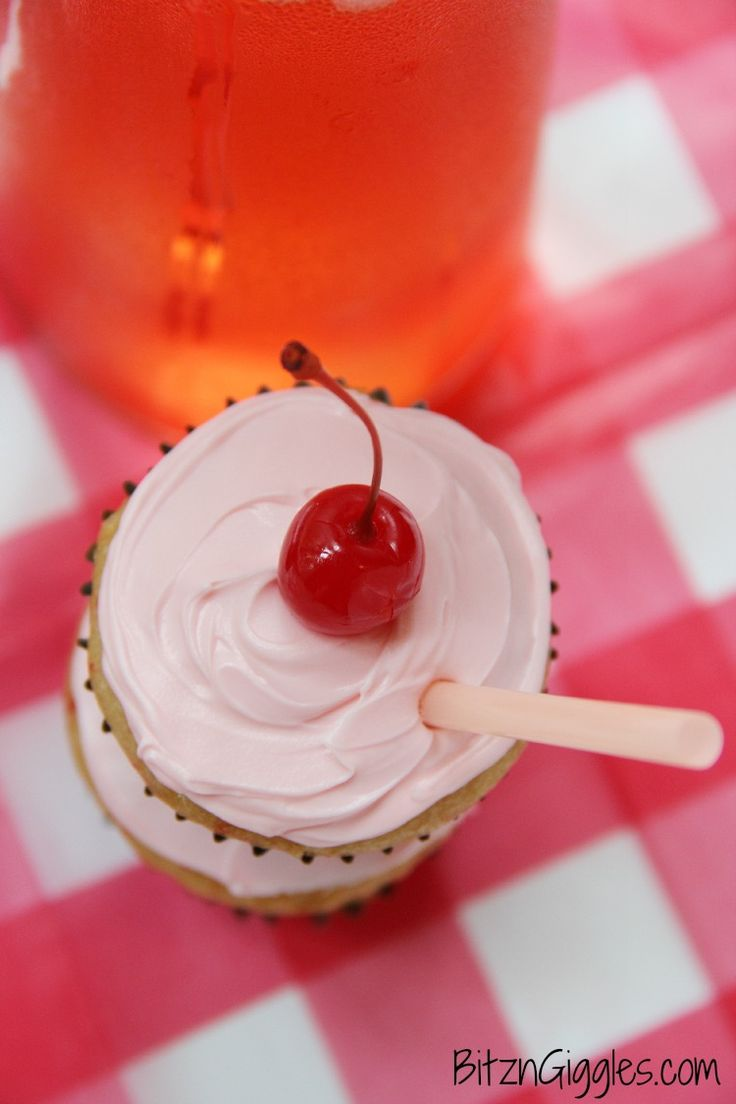 Shirley Temple Cupcakes | Cupcakes | Pinterest