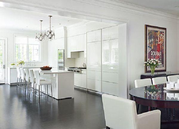 Modern White Kitchen High Ceiling Kitchen Pinterest