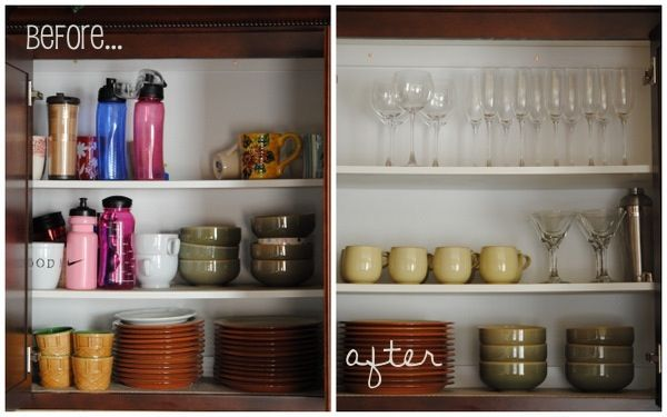 Operation declutter the kitchen - Declutter before and after ...
