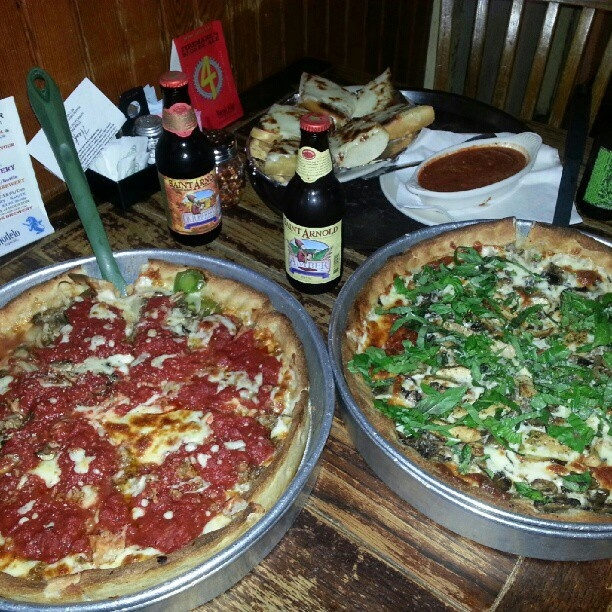 Drink pizza, eat beer, repeat. | Deep Dish Pizzas | Pinterest