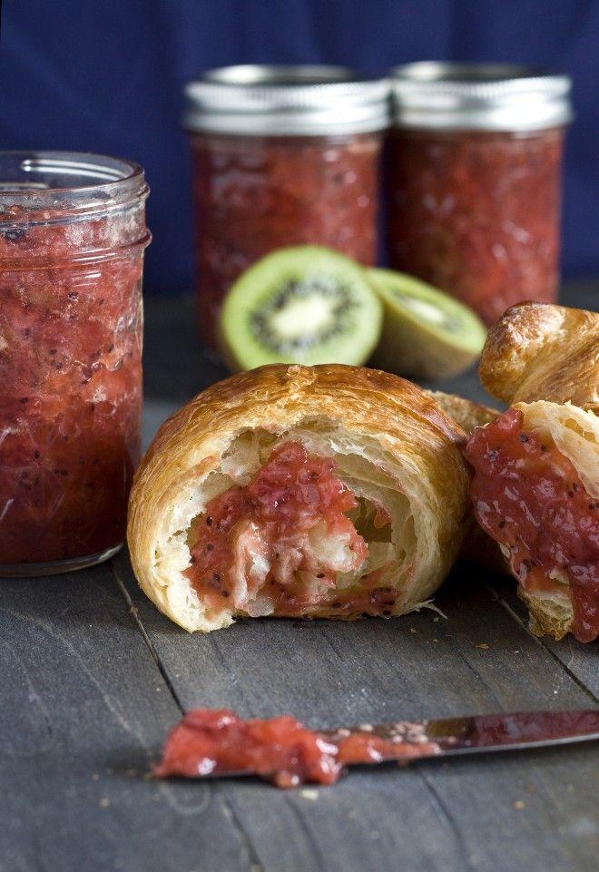 Strawberry Kiwi Jam | Sweet Remedy #BrunchWeek