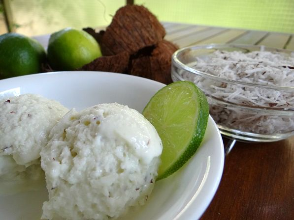 Coconut lime ice cream | ICE CREAMS & THE LIKE | Pinterest