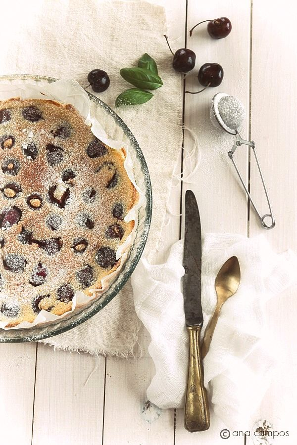 CHERRY AND ALMOND CLAFOUTIS | Desserts | Pinterest