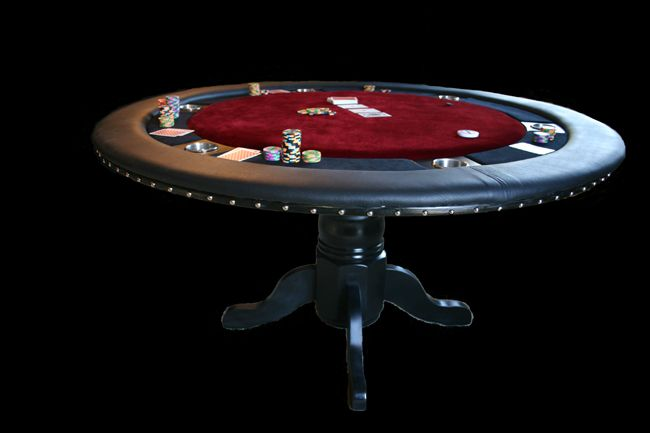 Convert our old kitchen table into a poker table