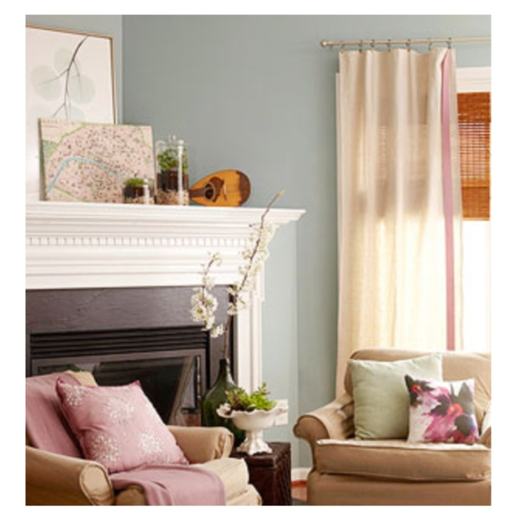 Slate Blue Walls Family Room Pinterest