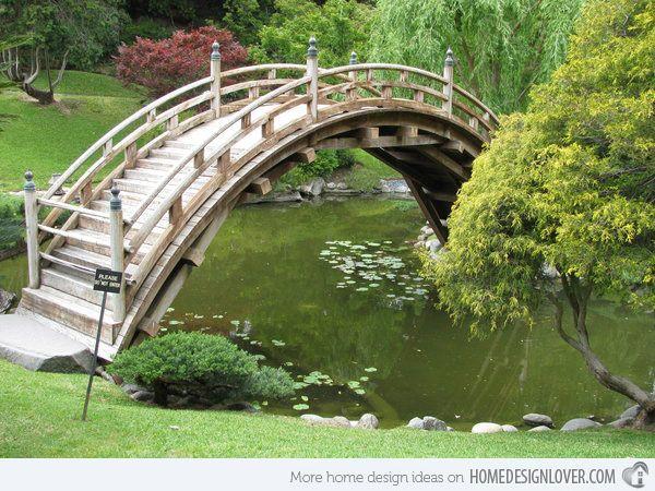 15 japanese inspired garden bridges bridge between for Japanese garden bridge plans