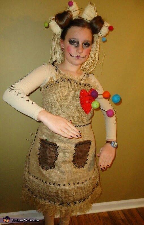 Костюм хэллоуин кукла вуду своими руками 2