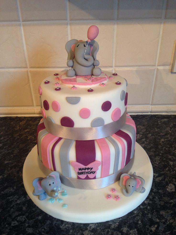 Images Of Elephant Cake : Elephant birthday cake cakes Pinterest