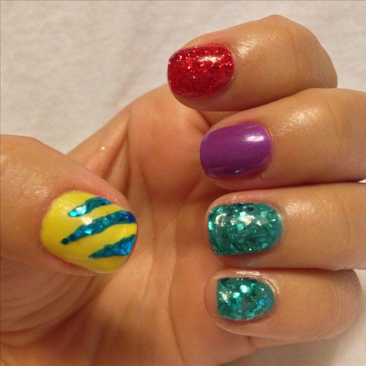 Little Mermaid Nails: Pin By Feli Carolyn On Nail Art