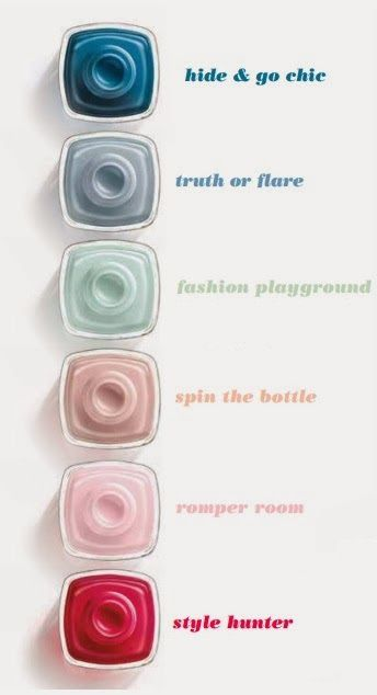 Essie's Limited Edition Spring 2014 Collection - truth or flare & spin the bottle