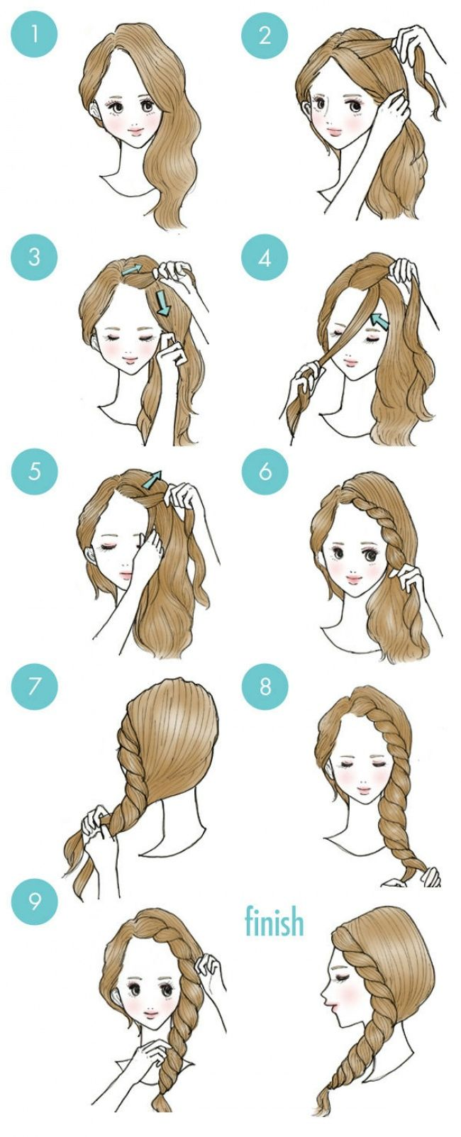 Прически с повязкой для волос на голове, на лбу 11