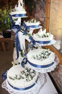 Hochzeitstorte blau  Hochzeitsideen - Wedding Ideas  Pinterest