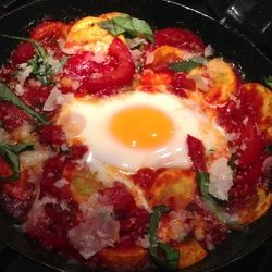 Summer Squash Skillet With Baked Eggs | recipes to try | Pinterest