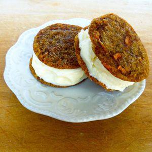 Carrot cake cookies ice cream sandwiches