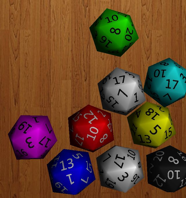virtual 9 sided dice