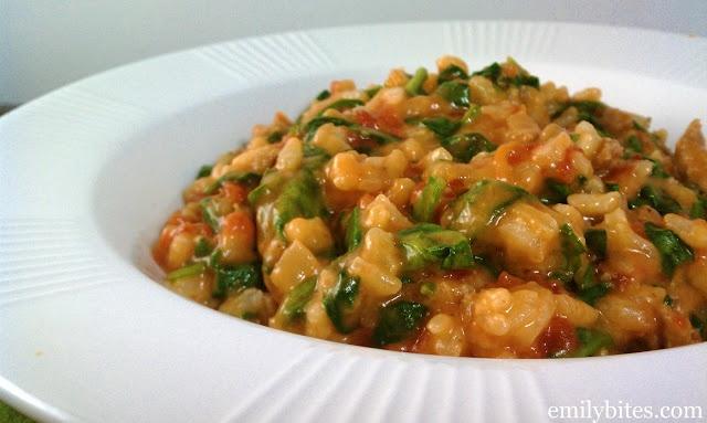tomato & sausage risotto (1/6 recipe = 8 PP)