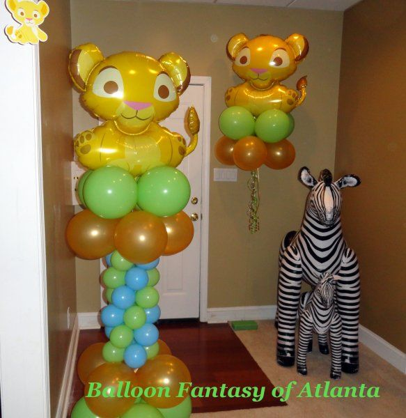 lion king theme baby shower but instead of the zebra we need a giraffe