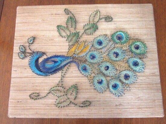 Gorgeous peacock | Nail String Art | Pinterest