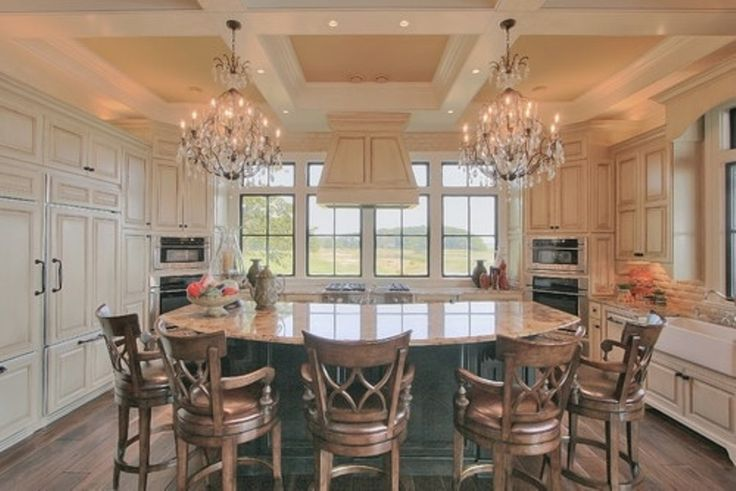 round kitchen island with seating dream house pinterest On kitchen island with round seating area