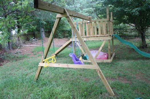 Diy Swingset Kids Pinterest