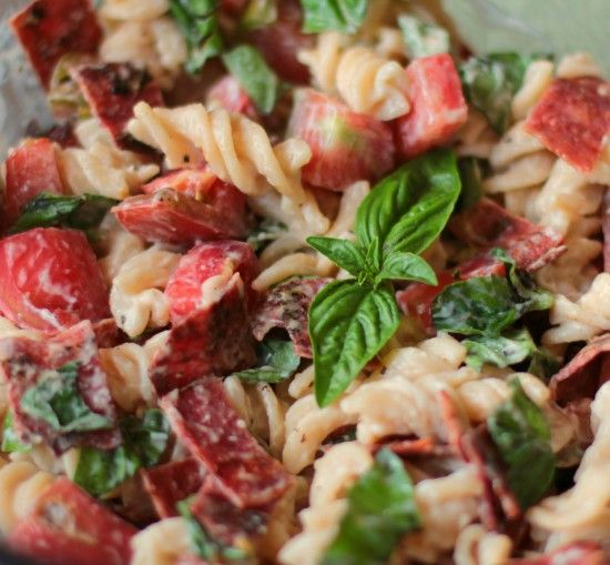 BLT pasta- laughing cow french onion secret ingredient!