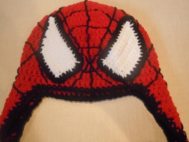 Crochet Spiderman Hat PATTERN - Instant Download