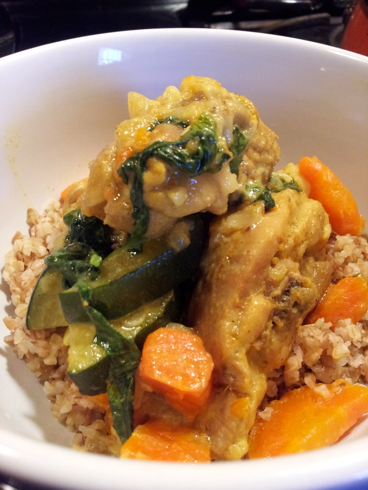 Basil Coconut Curried Chicken