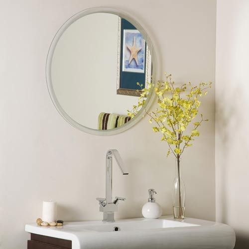 Fantastic  Round Stainless Steel Medicine Cabinet With Lighted Mirror  Bathroom