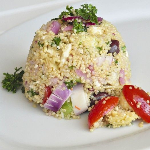 Greek Quinoa Salad | I LOVE FOOD | Pinterest