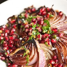 Roasted Red Onions with Pomegranate Gremolata Recipe