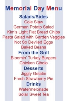 memorial day menu and recipes