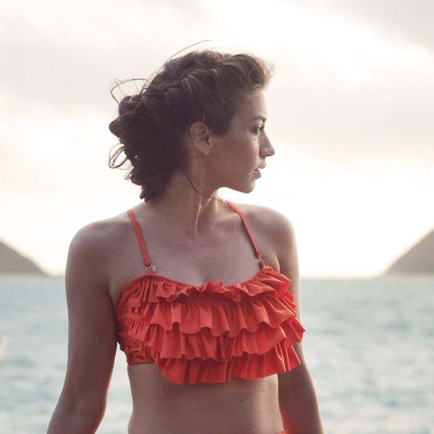 Cha-Cha-Cha Bikini Top -- Papaya