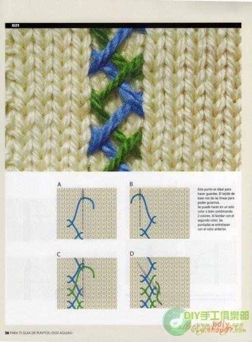 Шов иголка назад в вязании 27