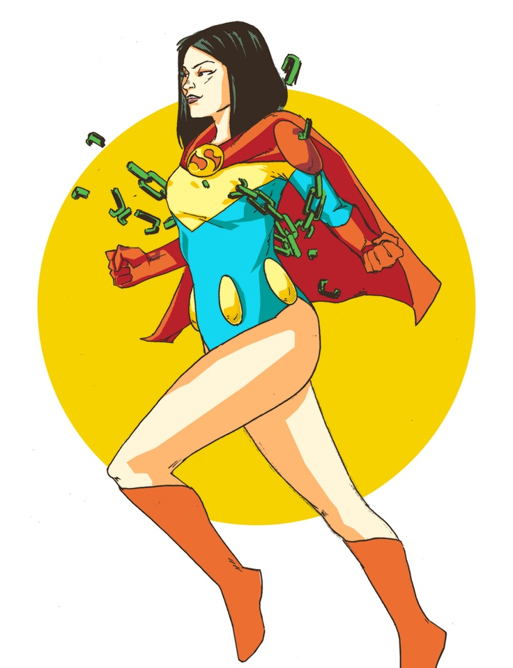 Lois as Superwoman by Christopher Duran