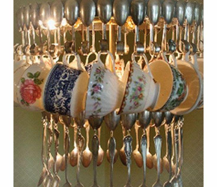 Vintage Teacup Chandelier