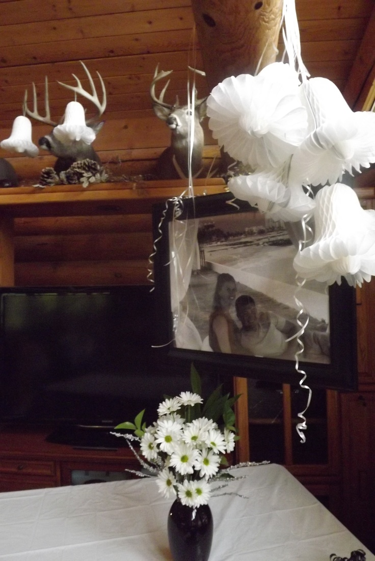 Wedding Gift Table Ideas Pinterest : decorations on gift table Black and White Wedding Shower...2012 P ...