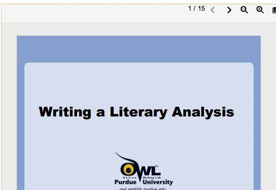 Writing A Literary Analysis Thesis