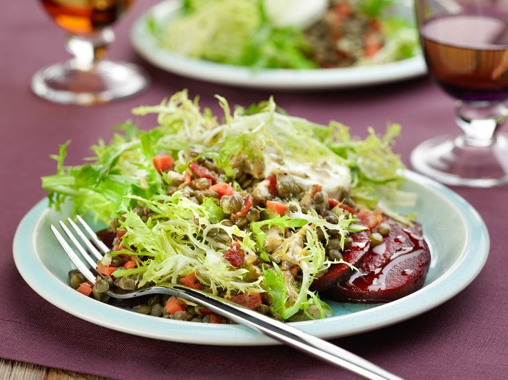Warm Lentil Salad with Roasted Beets and Goat Cheese Recipe : Bobby ...