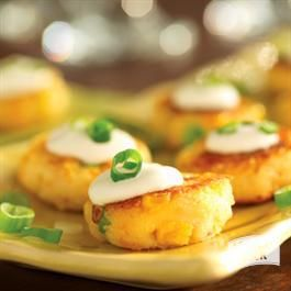Mini Potato Corn Cakes with Cheddar and Sour Cream from Hungry Jack®