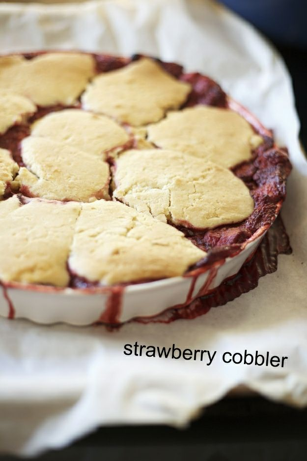 strawberry cobbler, gluten-free - Gluten Free Girl and the Chef, tried ...