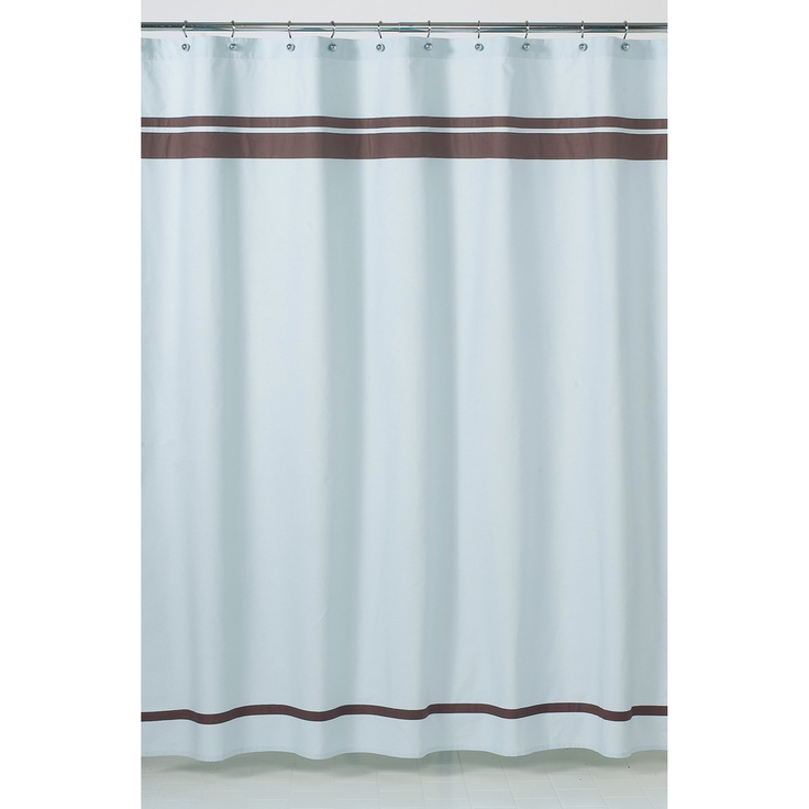 White Curtains With Gray Trim Blue Moon Shower Curtain