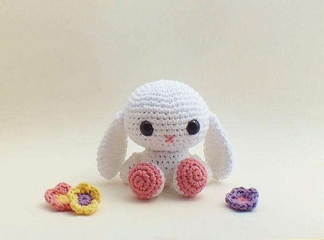 Crochet Patterns Rabbit : Ravelry: Crochet Amigurumi Bunny Rabbit pattern by LittleBittyKnitter ...