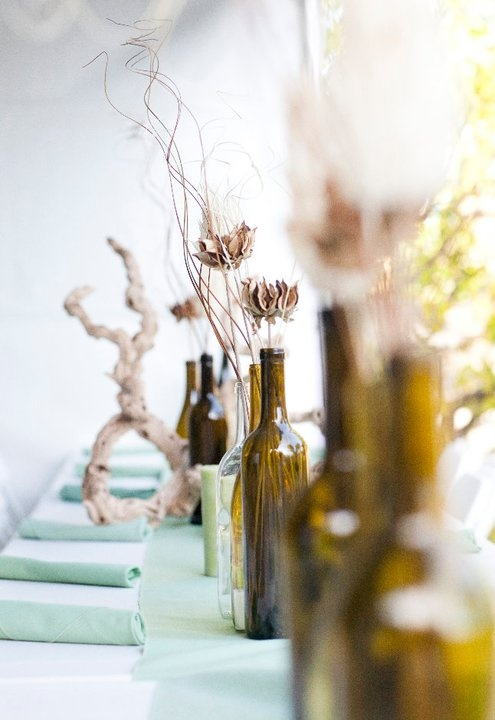 wine bottle centerpieces