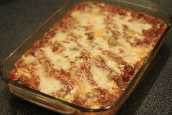 No Noodle Healthy Zucchini Lasagna Recipe.