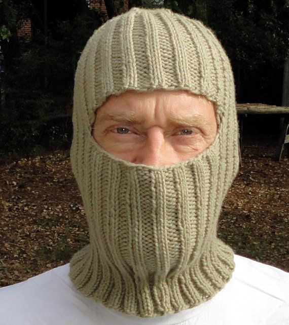 Hand Knit Ski Mask/Balaclava The Widows Walk - My Work Pinterest