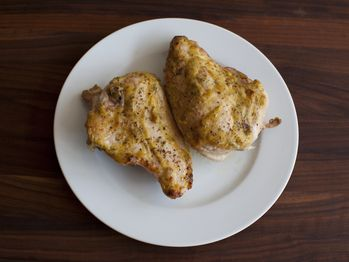"Roast Chicken with Rosemary-Mustard Crust with Browned Onions"" from ..."