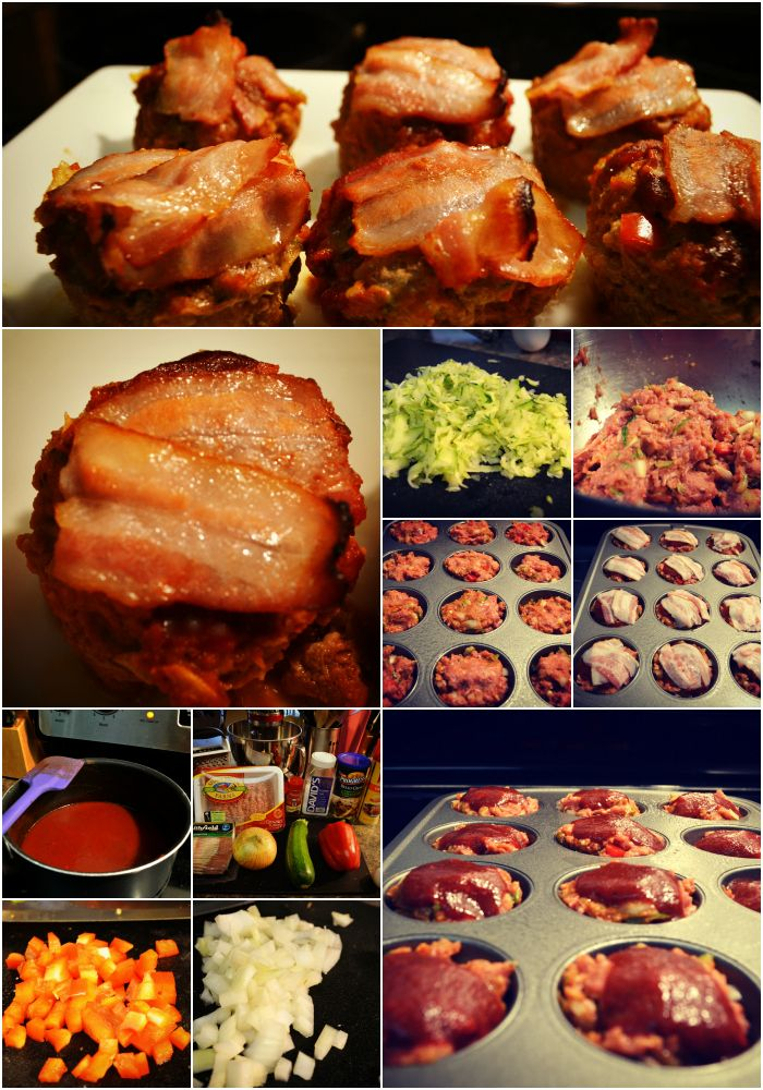 bacon-topped turkey meatloaf muffins, via skinnytaste.com.