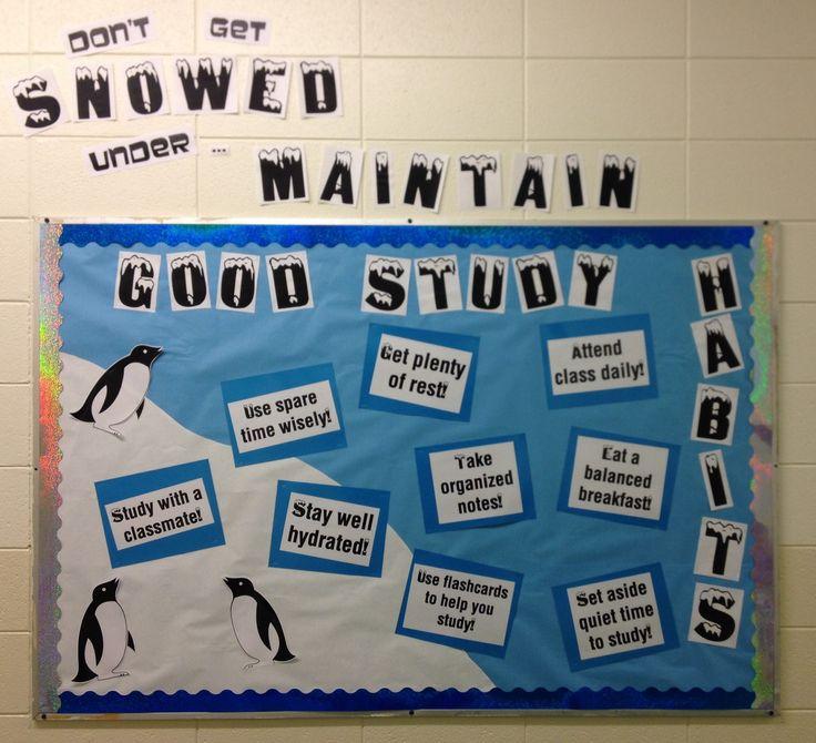 Classroom Bulletin Board Design For High School : High school study skills bulletin board