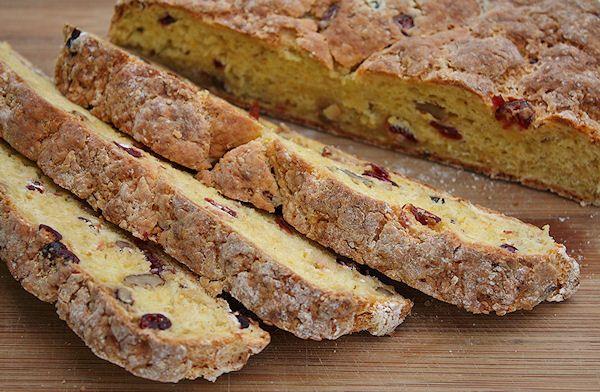 Gluten-free Cranberry-Orange Walnut Soda Bread