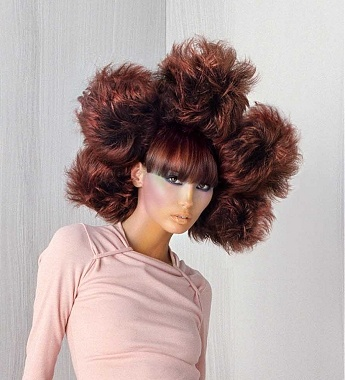 Quirky Hairstyles For Long Hair : ... quirky avant garde bunches Ethnic Womens hairstyle by Hooker & Young